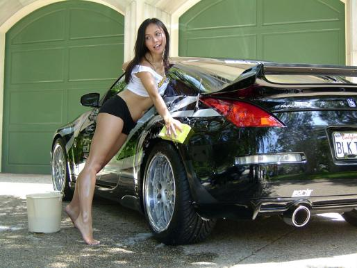 hot girl washing car № 198172